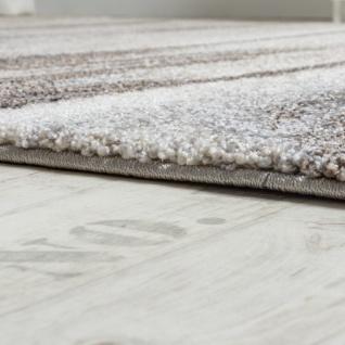Teppich Meliert Modern Webteppich Wohnzimmerteppich Hochwertig In Grau Beige - Vorschau 2