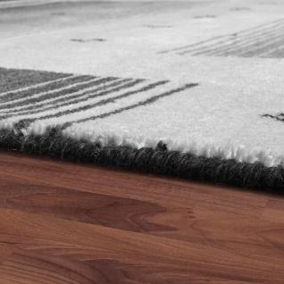 Teppich Handgewebt Gabbeh Hochwertig 100% Wolle Neu Meliert Bordüre Hellgrau - Vorschau 2
