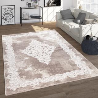 Teppich Wohnzimmer Vintage Orient Stil Mit Ornamenten Kurzflor, Modern In Beige
