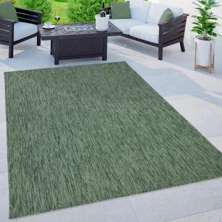 Outdoor Teppich Balkon Terrasse Küchenteppich Einfarbiges Muster Meliert Grün