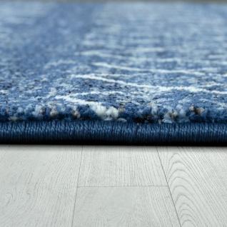 Wohnzimmer Teppich Indigo Blau Trend Modernes Skandinavisches Muster - Vorschau 2