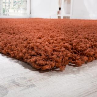 Shaggy Hochflor Langflor Teppich Sky Einfarbig in Terrakotta - Vorschau 2