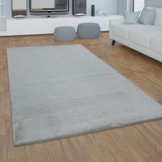 Teppich Wohnzimmer Kunstfell Plüsch Hochflor Shaggy Super Soft Waschbar In Grau