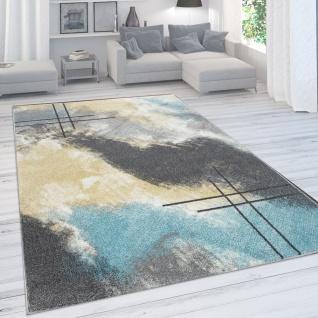 Designer-Teppich Für Wohnzimmer, Pastellfarben, Farbverläufe, Abstrakt In Gelb