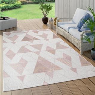In- & Outdoor-Teppich Für Balkon Und Terrasse, Mit Rauten-Muster, In Rosa