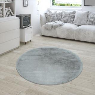 Teppich Wohnzimmer Kunstfell Plüsch Hochflor Shaggy Super Soft Waschbar In Grau - Vorschau 2