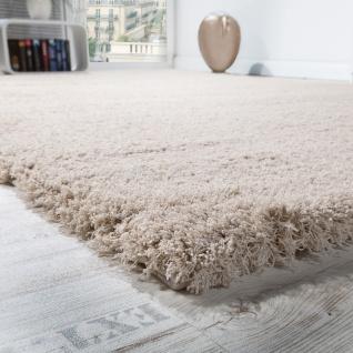 Shaggy Teppich Micro Polyester Wohnzimmer Teppiche Elegant Hochflor Hellbeige - Vorschau 3
