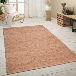Teppich Wohnzimmer Jute Sisal Muster Handgefertigt Mit Moderner Bordüre Beige