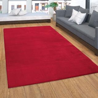 Teppich, weicher Kurzflor-Teppich Für Wohnzimmer, Soft, Waschbar, In Rot