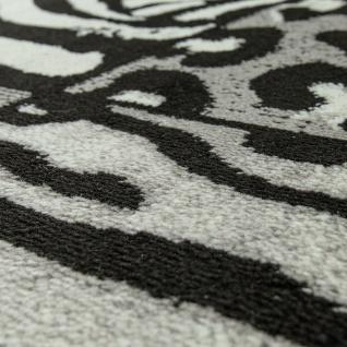 Designer Teppich Patchwork Design Tierfell Motive Modern Grau Anthrazit Weiß - Vorschau 3