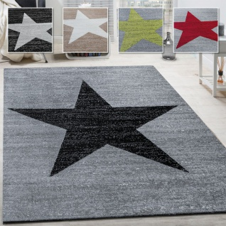 Wohnzimmer Teppich Mit Stern Muster, Moderner Kinder- und Jugendzimmer Kurzflor