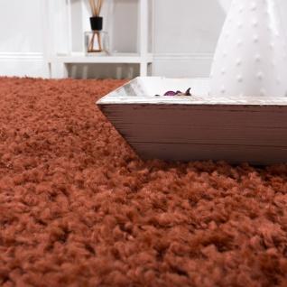 Shaggy Hochflor Langflor Teppich Sky Einfarbig in Terrakotta - Vorschau 3