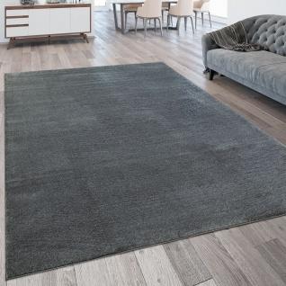 Wohnzimmer-Teppich, Kurzflor-Teppich Waschbar, Einfarbig In Anthrazit Grau