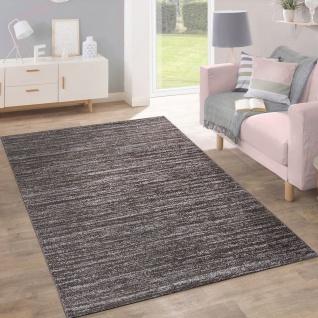 Teppich Kurzflor Modern Trendig Pastellfarben Design Meliert Einfarbig Taupe - Vorschau 1