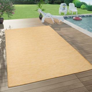 In- & Outdoor-Teppich Für Wohnzimmer, Balkon, Terrasse, Flachgewebe In Gelb
