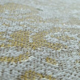 In- & Outdoor Teppich Modern Shabby Chic Stil Terrassen Teppich Wetterfest Gelb - Vorschau 3