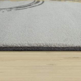 Teppich Wohnzimmer Muster Modern Kurzflor Abstrakt Kreise In Gelb Grau Weiß - Vorschau 2