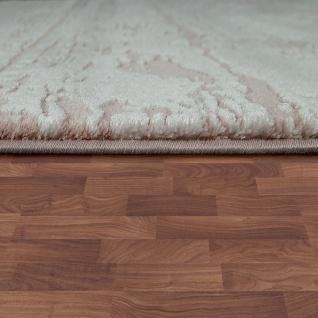 Designer Polyacryl Teppich Hochwertig Modern Used Look Abstrakt 3D Effekt Rosa - Vorschau 2