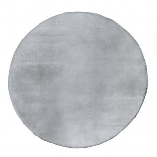 Teppich Fellteppich Kunstfell Wohnzimmer Hochflor Shaggy Flauschig Weich Plüsch, Grau - Vorschau 2