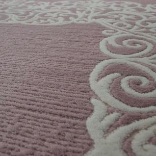 Vintage Polyacryl Teppich Florale Muster Hochwertig Modern Fransen Pastell Rosa - Vorschau 3