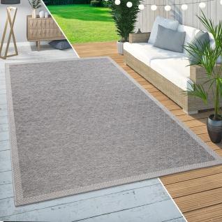 In- & Outdoor Teppich Balkon Terrasse Küchenteppich Rauten Muster Modern Beige