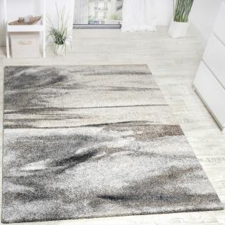 Teppich Meliert Modern Webteppich Wohnzimmerteppich Hochwertig In Grau Beige