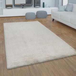 Teppich Wohnzimmer Kunstfell Plüsch Hochflor Shaggy Super Soft Waschbar In Beige - Vorschau 1