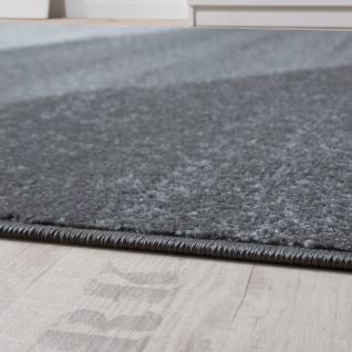 Designer Teppich Modern Geschwungene Wellen Linien Muster Kurzflor Meliert Rot - Vorschau 2