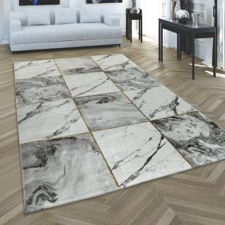 Kurzflor-Teppiche Grau Gold Weich Wohnzimmer Marmor Optik vers. Designs