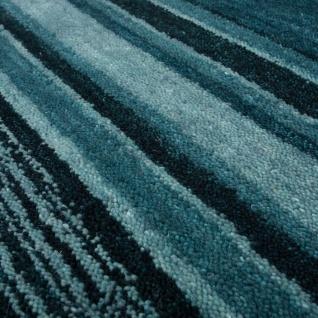 Teppich Handgewebt Gabbeh Hochwertig 100% Wolle Meliert Bordüre Grün Grau - Vorschau 3