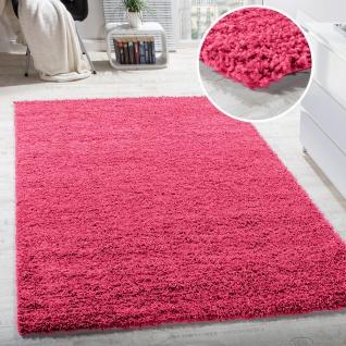Shaggy Hochflor Langflor Teppich Sky Einfarbig in Pink / Rosa / Fuchsia