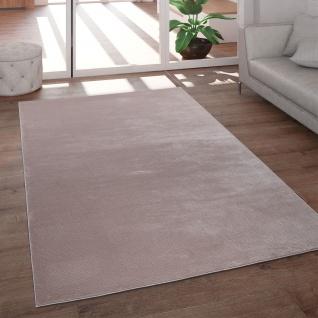Teppich Wohnzimmer Kurzflor Modern Glanz Schimmer Effekt Weich Einfarbig Rosa