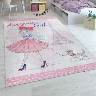 Kinderteppich, Spielteppich Für Kinderzimmer In Rosa