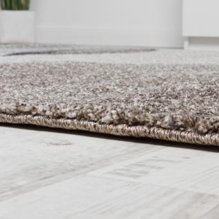 Teppich Meliert Webteppich Hochwertig Wellen Optik Meliert Grau Beige Creme - Vorschau 2