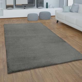 Teppich Wohnzimmer Kunstfell Plüsch Hochflor Shaggy Super Soft Waschbar In Dunkelgrau