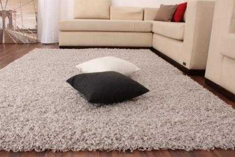 Shaggy Grau Hochflor Langflor Teppich UNI Silver * - Vorschau 2