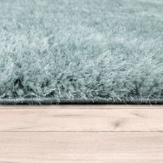 Hochflor Teppich Wohnzimmer Grün Weich Shaggy Flauschig Abstraktes 3-D Muster - Vorschau 2