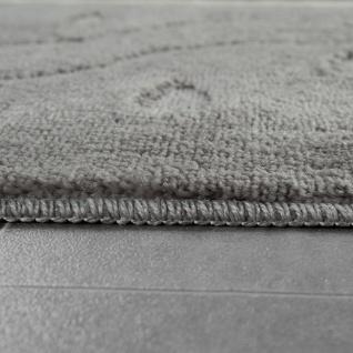 Moderner Badezimmer Teppich Rutschfest Badvorlerger Fußabdruck Einfarbig In Grau - Vorschau 2