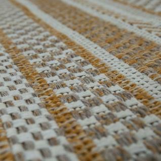 Teppich Beige Küche Wohnzimmer Flur Web Muster Streifen Rustikal Orient Design - Vorschau 3