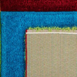 Hochflor Teppich Wohnzimmer Kinderzimmer Shaggy 3D Effekt Würfel Muster Bunt - Vorschau 4