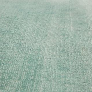 Teppich Handgefertigt Hochwertig 100 % Viskose Vintage Trend Farbe Pastell Grün - Vorschau 3