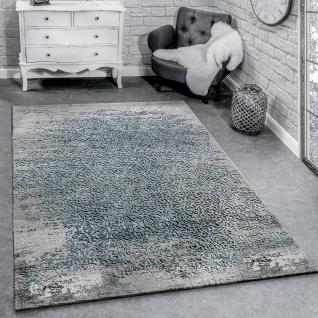 Designer Teppich Modern Wohnzimmerteppich Mit Muster Ornamente Grau Blau
