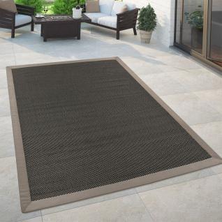 In- & Outdoor Flachgewebe Teppich Trend Natürlicher Look Einfarbig In Anthrazit