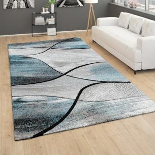 Teppich Wohnzimmer Vintage Kurzflor 3D Effekt Geometrisches Muster Grün Beige