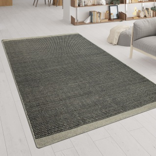 Handgewebter Teppich Flachgewebe Skandinavischer Look Meliert Webmuster In Grau