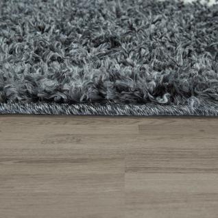 Shaggy Teppich Wohnzimmer Hochflor Rauten Muster Skandi Design vers. Farben u. Größen - Vorschau 2