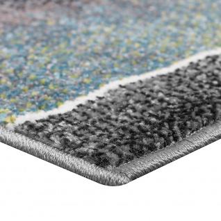 Bettumrandung Läuferset Trendiges Design Kariert Eyecatcher in Grau Türkis Grün - Vorschau 2