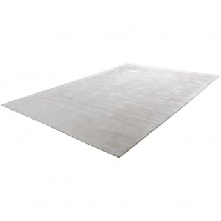 Teppich Handgefertigt Hochwertig 100 % Viskose Vintage Aufällig Meliert In Creme - Vorschau 3