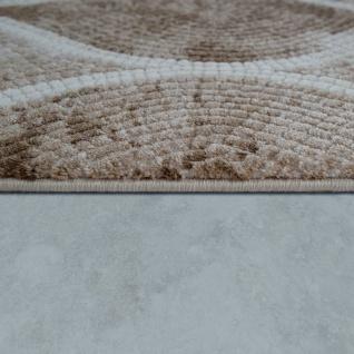 Wohnzimmer-Teppich Im Orientalischen Mosaik-Design, Vintage-Kurzflor In Beige - Vorschau 2