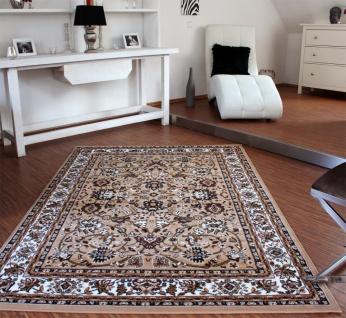 Klassicher Orient Teppich Muster Beige Creme